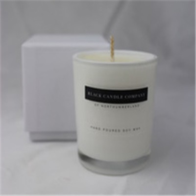 Men's Small Votive Candle in Black or White Box