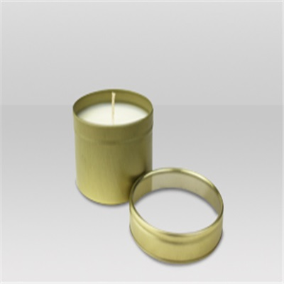 Women's Round Gold Tin Candle in Organza Bag