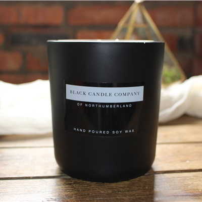 2 Wick Rock Rose and Oak Candle