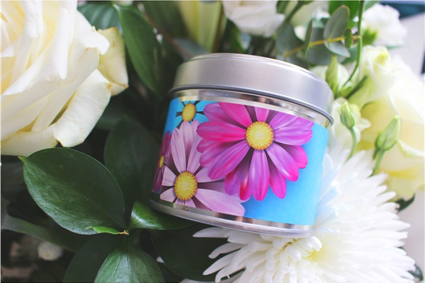 mothers day candle blue side